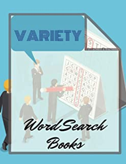 Variety Word Search Books: Fantastic Word Search Books for Adults & Seniors. Relax your mind! (Word for Adults & Seniors)