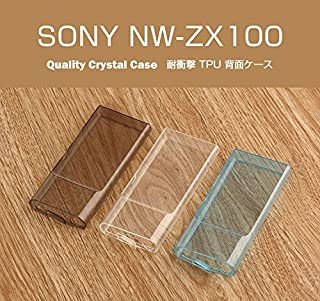 【YOUNGE】SONY NW-ZX100 ケース 耐衝撃 シリコンケース NW-ZX100 背面カバー ソフトケース SONY ウォークマン ZXシリーズ ZX100 極薄 ソフト クリア 落下防止 用 耐スクラッチTPU ケース (SONY NW-ZX100, グレー)