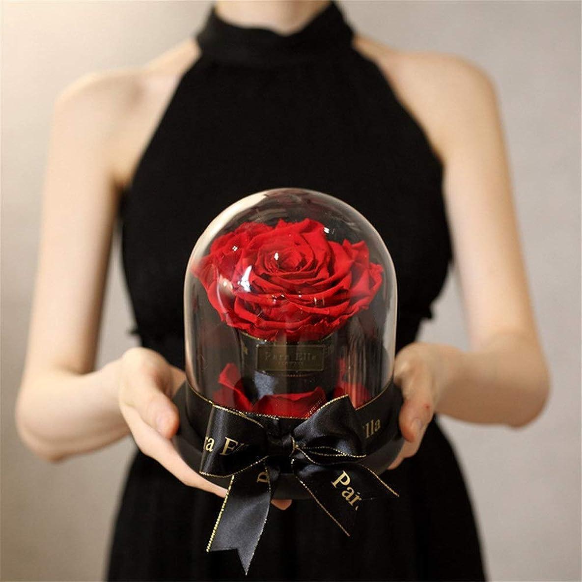 敬なガイド憲法プリザーブドフラワー 彼女のためにバラの花手作り決して枯れたバラ、魅惑のバラ、バレンタインパーティーギフト、ウェディングギフト、最高の贈り物を保存 永遠の花 (Color : Red, Size : Free size)