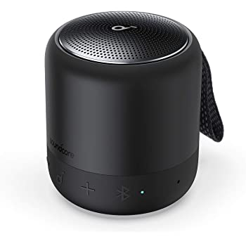 Anker Soundcore Mini 3 Bluetooth スピーカー コンパクト イコライザー設定 BassUpテクノロジー PartyCast機能 IPX7防水 15時間連続再生 USB-Cポート採用 ブラック