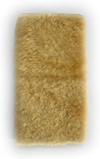 GALAXY Note Edge SC-01GSCL24 au [KYOTO SAKURAYA][フラップサイド有][目玉と紐は無し] 羊革 ファー ふわふわ 毛皮 ベージュ キャメル 手帳型 case スマホケース スマホ カバー ケース 携...
