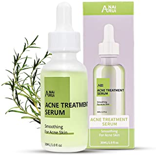 Acne Treatment Serum with Tea Tree Oil, Acne Spots Clearing, Acne Skin Soothing, Acne Scar Fading, Tea Tree Herbal Relief Serum, Natural Skin Care for Teens and Adults (1OZ)