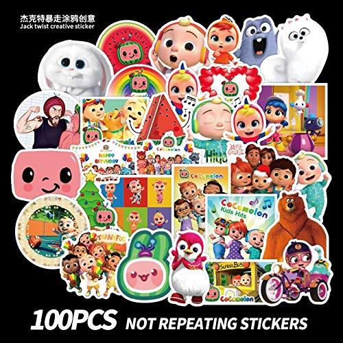 BLOUR 100 Dibujos Animados Lindos niños creativos Maleta Pegatina Palanca Caja Maleta Impermeable Pegatina Ordenador DIY Pegatina