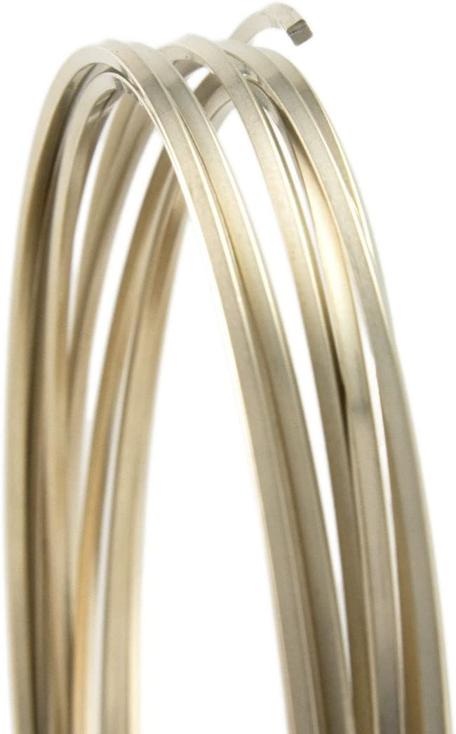 WR6221S Craft Wire Square Silver Plated 21ga 4yd Spool
