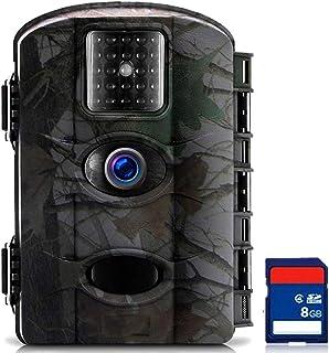 TRAIL WATCHER Cámara de Caza 16MP 1080P HD Trail Cámara Impermeable IP65 con Infrarrojos PIR Sensor de Movimiento con Lapso de Tiempo 65ft Visión Nocturna de Caza para Hogar Caza