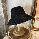 CHENGCHAO Sombrero para el Sol Sombreros de Cubo de Encaje de Verano Femenino para Mujer Sunst Sun Hat Sombrero Plegable liviano Transpirable al Aire Libre Princesa portátil de la Princesa Sombreado