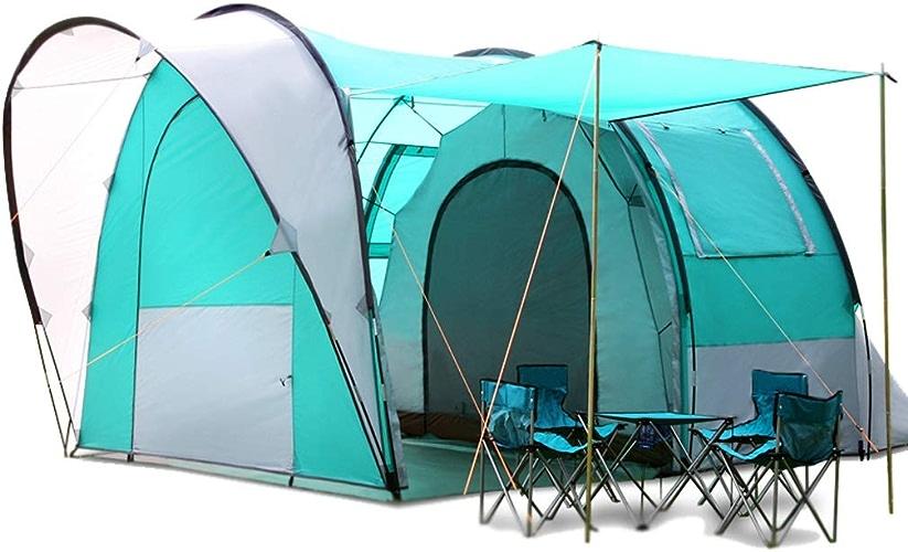 GYT écran Solaire imperméable à l'Eau 5-6 Personnes Une pièce et Un Salon Tunnel Tente Tente familiale Tente de Camping Sac à Dos Tente