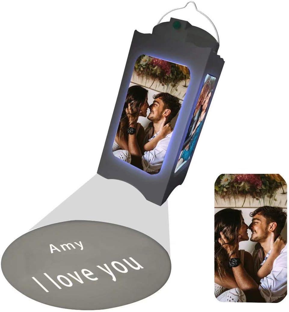 Proyector de luz nocturna con foto personalizada Luz nocturna con 4 imágenes y tus palabras Lámpara de proyección personalizada Regalos para niños, mujeres, hombres, cumpleaños, regalos personalizados