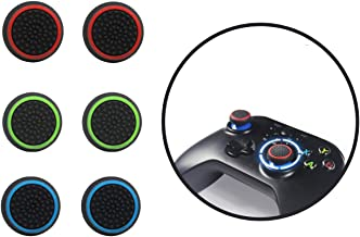 Thumb grips,【3 Pair Thumb Cover】Silicone Analog Thumb grip, Controller Covers for PS4, PS5, Xbox, Nintendo Switch Pro Cont...