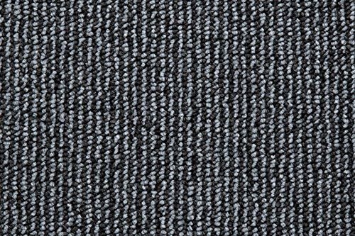 Teppichboden Schlingentextur Kurzflor Auslegware Bodenbelag anthrazit 500 x 400 cm. Weitere Farben und Größen verfügbar