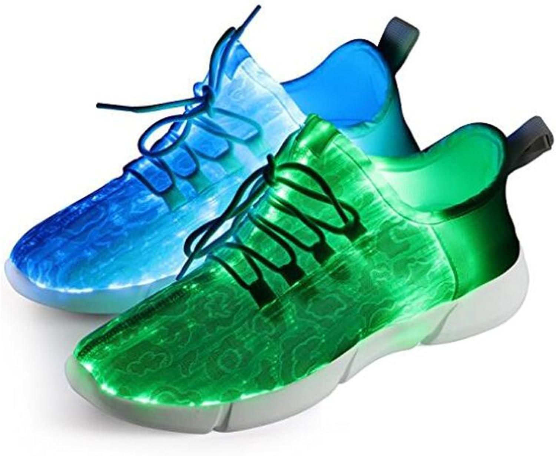 LED -skor som fladdrar med USB -minne för föräldrar föräldrar föräldrar och barn par par par 7 Färger på skor för män av Unisex Kvinnor (Färg  Vit, Storlek  32)  2018 butik