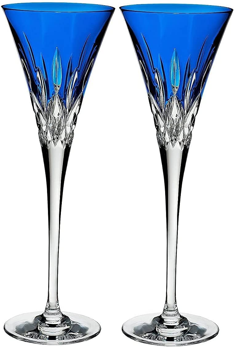Waterford Set of 2 Lismore price Toasting Deluxe Flutes Pops