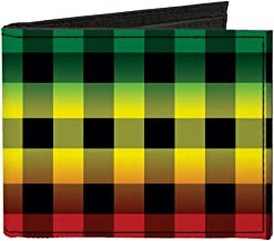 Canvas Bi-Fold Wallet - Buffalo Plaid Rasta