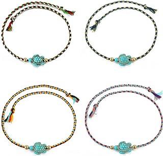 MengPa Friendship Braided Bracelet for Women Teen Girls Colorful Handmade Wrap Wrist Cord Adjustable Jewelry 10PCS