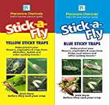 Combo Pack of Yellow Sticky Traps and Blue Sticky Traps