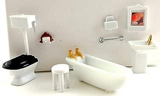 Dollhouse Minaiture 1:48 Scale Plastic Bathroom Furniture Set Suite