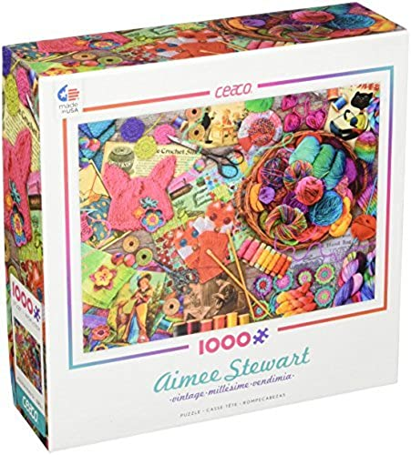 Ceaco Aimee Stewart - Vintage Yarns and Threads Puzzle (1000 Piece) by Ceaco