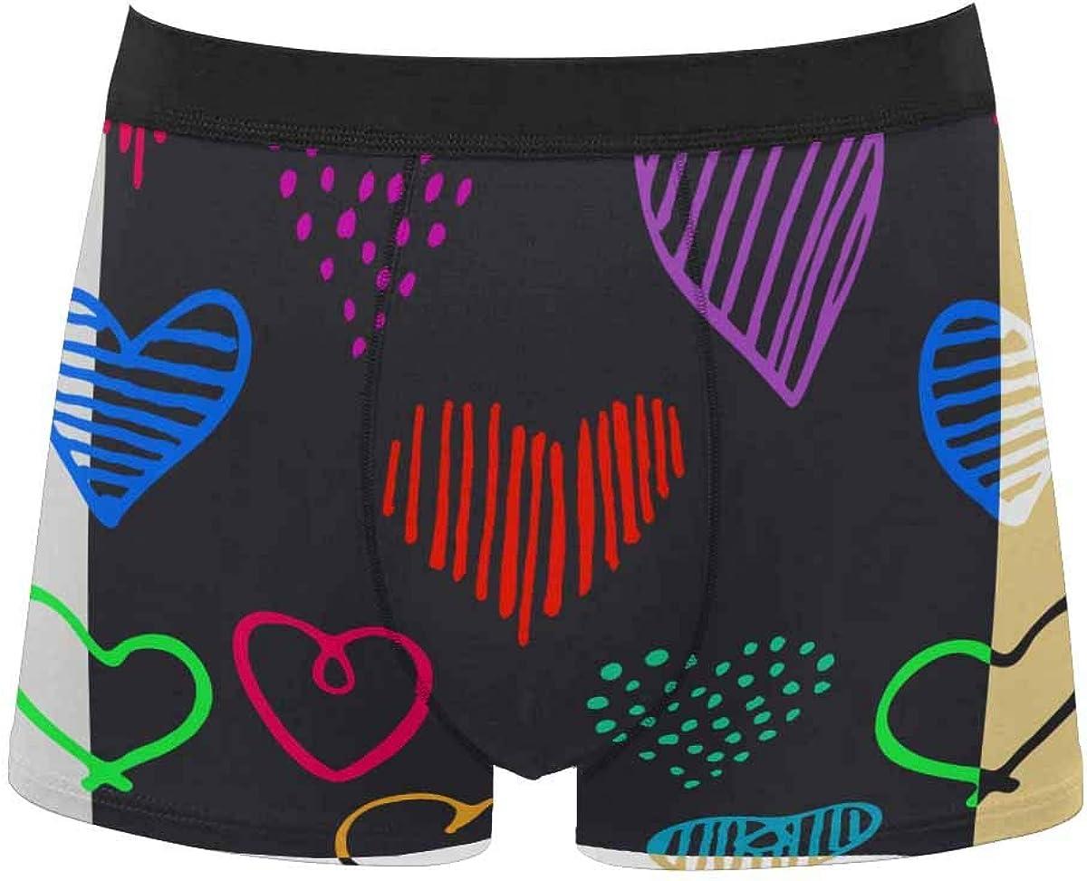 InterestPrint Men's All Over Print Boxer Stretch Underwear Shorts Underpants Little Turtle Pool