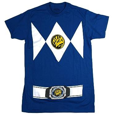 Power Rangers Men's Costume Style, Crew Neck, Short Sleeve T-Shirt