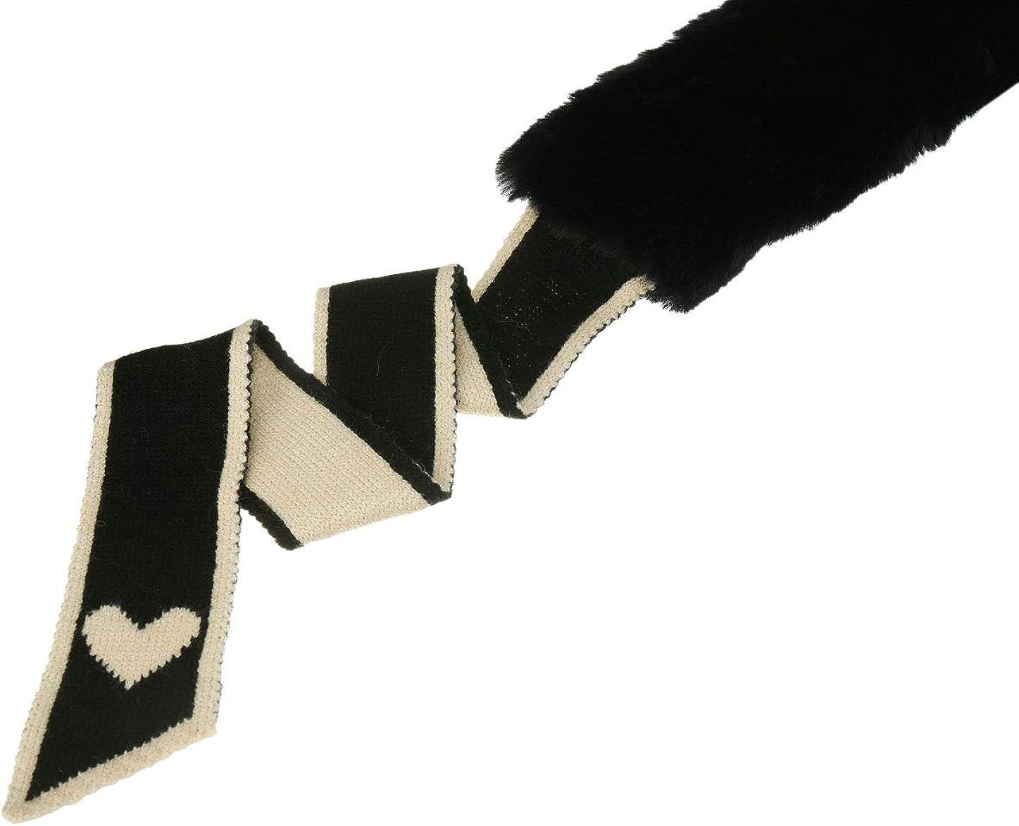 Allegra K Faux Fur Winter Collar Scarf Thick Plush Neck Scarves Wrap Warmer Shawl for Women Lady