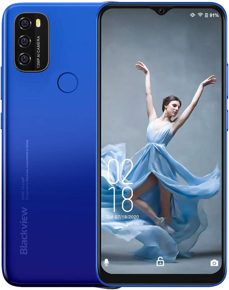 2021 4G Handy Ohne Vertrag, Blackview A70 Smartphone Kostenlos Android 11 Telefon entsperrt, 5380mAh Akku 6,5″ HD Bildschirm, Octa-Core 3GB + 32GB…