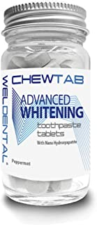 Chewtab Advanced Whitening Toothpaste Tablets with Nano-Hydroxyapatite, Peppermint