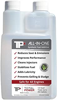 Total Power TPx Synthetic Fuel Additive for All Fuels - Fuel Stabilizer -16 oz Bottle