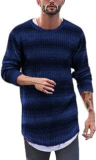Striped Pullover Tops for Men, Beautyfine Autumn Winter Warm Blouse Long Sleeve Sweater
