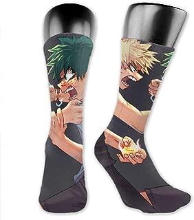 Unisex Novelty Socks Mid-Calf Crew Socks Comfortable Warm High Ankle Compression Socks For Home Work Athletic Outdoor Activities - My Hero Academia Deku Vs Kacchan
