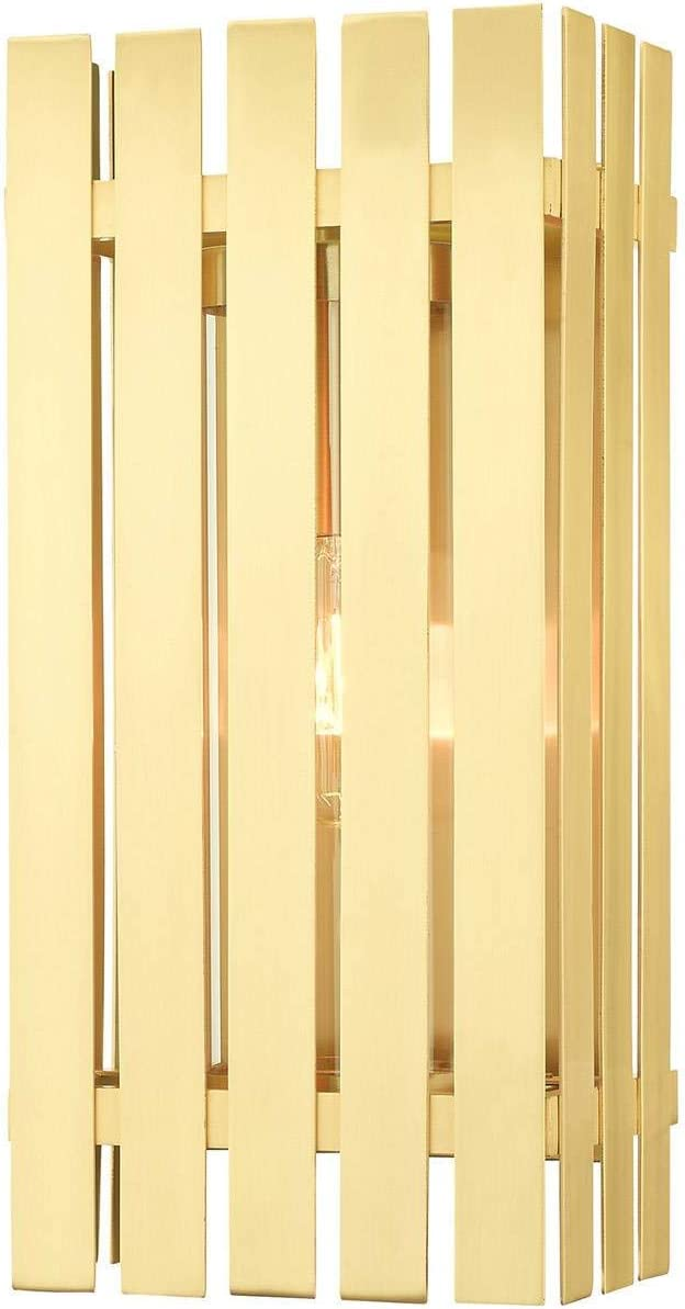 Latest item Satin Brass Tone Finish New popularity Wall Medium Solid Sconces Material