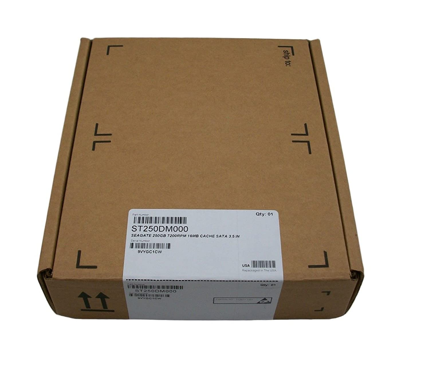 Seagate Barracuda ST250DM000 250GB 7200RPM SATA3/SATA 6.0 GB/s 16MB Hard Drive (3.5 inch)