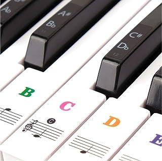 ColorfylCoco(カラフィルココ) 49 / 61 / 76 / 88 鍵盤対応 ピアノシール ピアノステッカー 鍵盤 キーボード 音符シール ステッカー 初心者 練習 音符ガイド シール