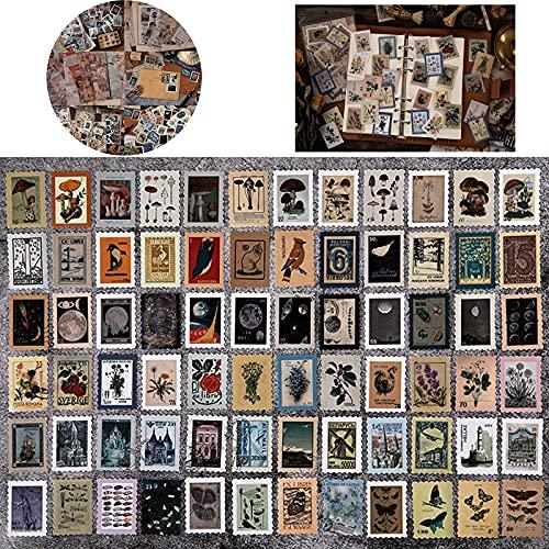276 Piezas Vintage Stickers, Pegatinas Scrapbooking Vintage, Vintage Stickers Etiqueta Sellos, Pegatinas Scrapbooking Pegatinas Vintage, 6 Elementos Temáticos, Adecuado para Decoraciones de Bricolaje
