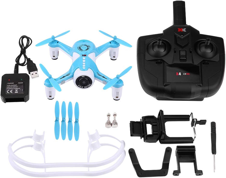 2.4Ghz Drone Quadcopter, WiFi Optischer Fluss Positionierung Fernbedienung Spielzeug mit 720P Kamera bluee