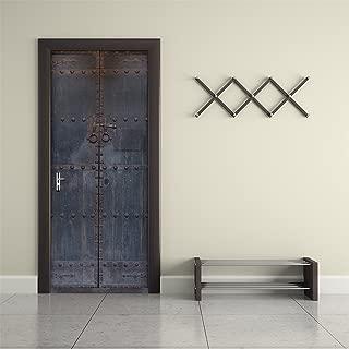 Fymural 3D Door Wall Mural Wallpaper Stickers-Old Wooden Door Self-Adhesive Vinyl Removable Art Door Decals 30.3x78.7 ¡