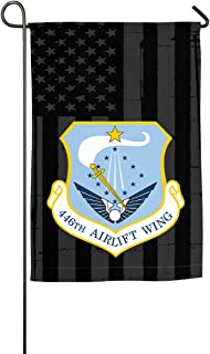 WANGLONG 446th Airlift Wing with US Flag Home Flag Outdoor Flags Garden Flag