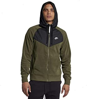 Sportswear Club Mens Full Zip Hoodie Olive/Black/White 929114-395