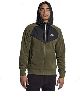 Nike Sportswear Club Mens Full Zip Hoodie Olive/Black/White 929114-395