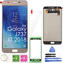 LCD Screen Replacement Touch Display Digitizer Assembly (Gold) for Samsung Galaxy J7 2018 J737 SM-J737 J737A / J7 Refine J737P / J7 Crown S767VL /J7 Aero/ J7 V J737V / J7 Star J737T