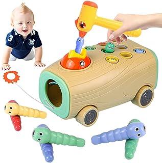 Montessori leksak, magnetisk barnlek, hackspett larver fånga spel, magnetisk barnlek med färger för kognitiv flicka gåva 2...