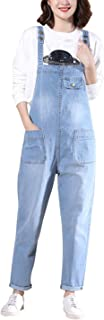 Yeokou Women's Denim Cropped Harem Overalls Pant Jeans Jumpsuits_Large_