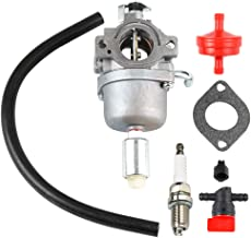 Dxent 594593 591731 Carburetor w Fuel Filter Spark Plug for Briggs and Stratton Nikki 796109 590400 796078 498811 79416 Intek 14HP 17.5HP, 18HP Craftsman LT1000 Engine