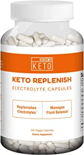 Kiss My Keto Electrolytes - Energy Supplement for Ketogenic Diet, Rapid Rehydration, Cramps, Recovery, Fatigue w/Himalayan Pink Salt, Calcium Potassium Magnesium Zinc (Capsules)