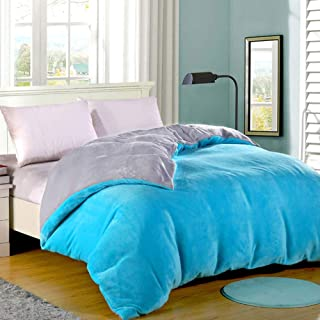 厚い珊瑚フリース掛け布団カバー,ダブル-直面したフランネルデュヴェカバー,ソリッドカラー寝具,可逆 持続 イージーケア コンフォーターカバー-q 220x240cm