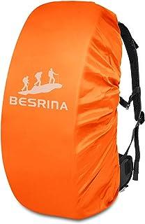 Besrina - Funda impermeable para mochila (15-90 L), correa con hebilla cruzada antideslizante y reflectante, impermeable, para senderismo, camping, viajes, ciclismo, naranja (Naranja) - BACK-COV-11