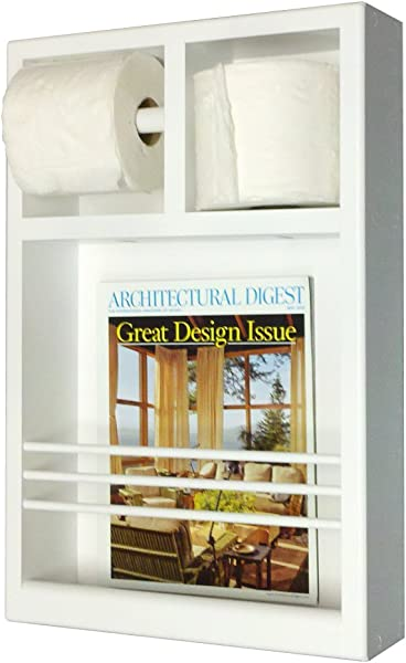 Wood Cabinets Direct Justin On The Wall Magazine Rack Toilet Paper Combo