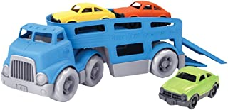 Green Toys Car Carrier Vehicle Set Toy, Blue (Renewed)