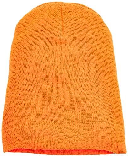 MSTRDS Bonnet Unisexe Basic Flap Version Longue. Taille Unique Orange Fluo