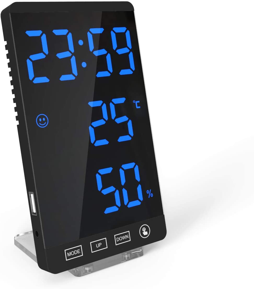 DollaTek Smart Max 76% OFF Mirror LED Spasm price Clock Phone C Decorative Charger Alarm