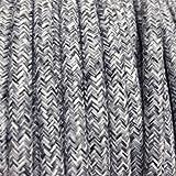 Cable Eléctrico Textil–Cable eléctrico Tejido Lino Gris